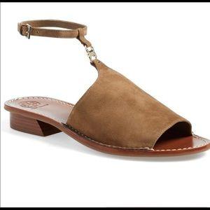 Tory Burch Gemini link suede sandals 7